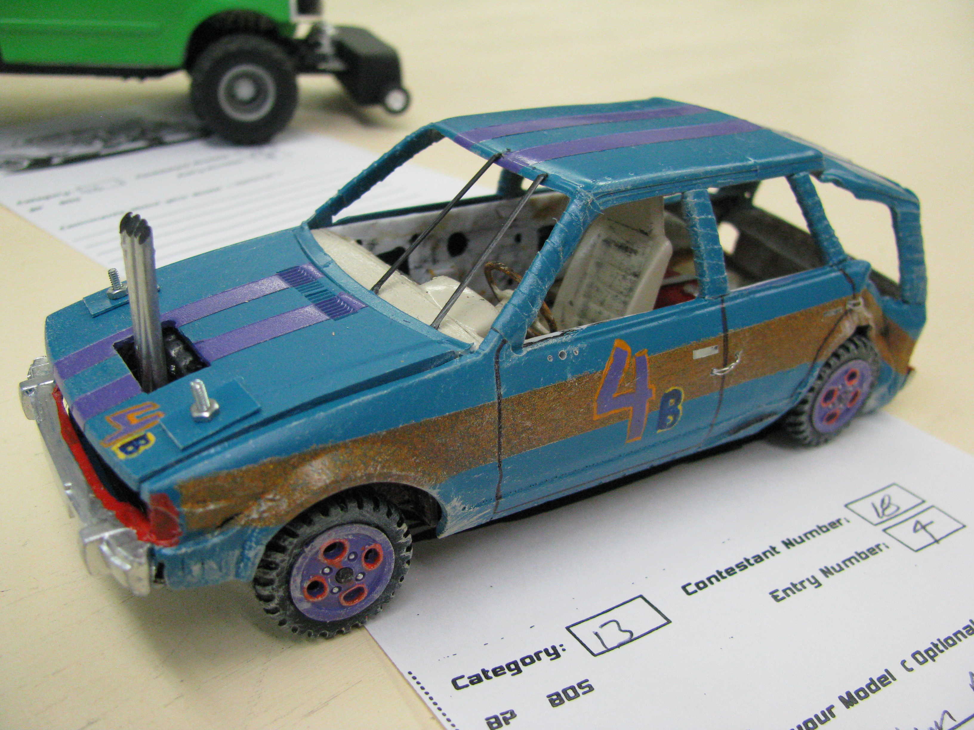 View photo of 1985 Ford Escort Station Wagon Demolition Derby Model Car ...