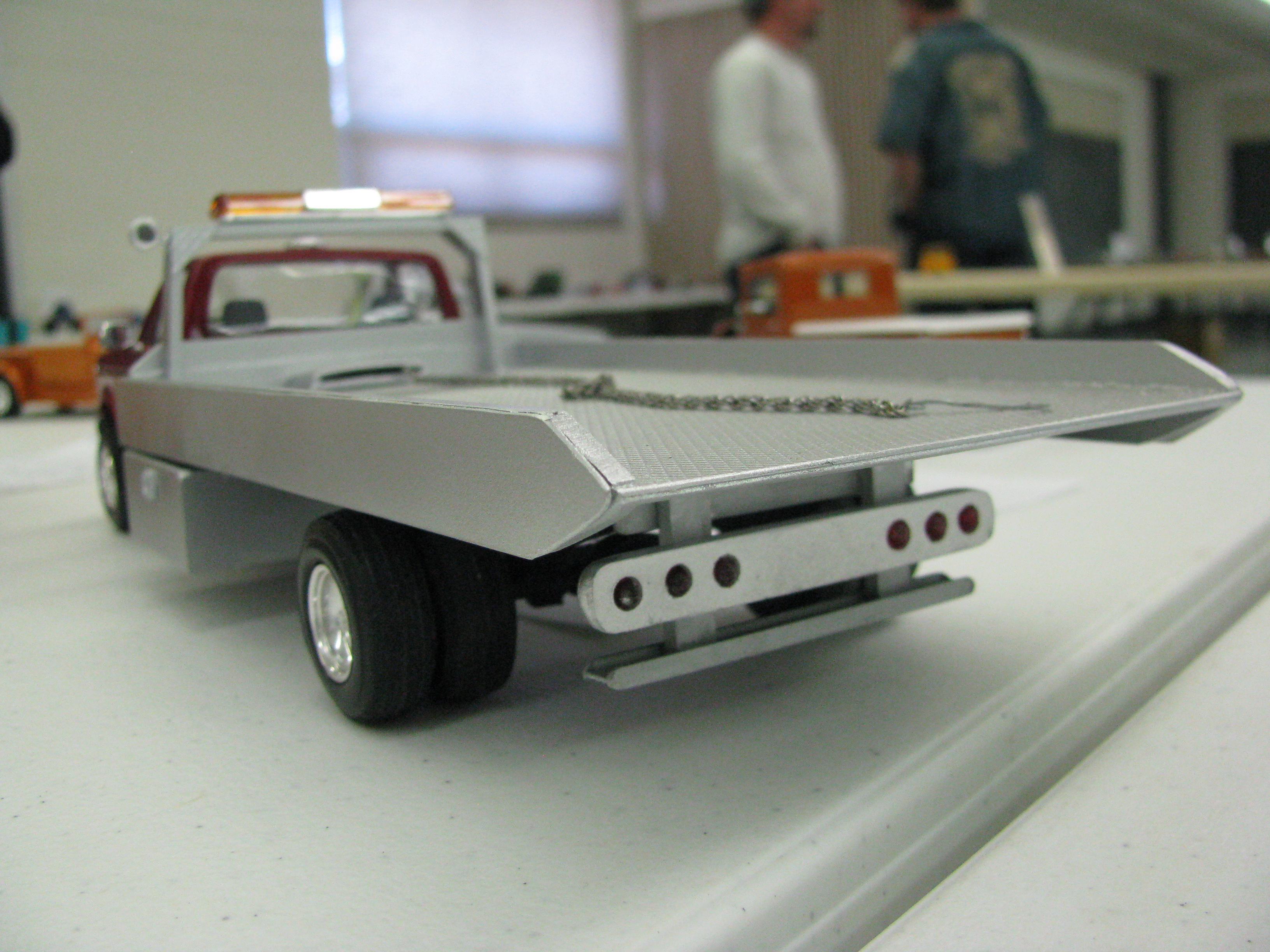 View Photo Of  Ford F  Flatbed Tow Truck Model