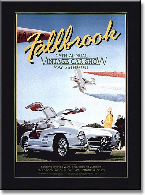 Fallbrook vintage car show the crittenden automotive library for Vintage mercedes benz posters