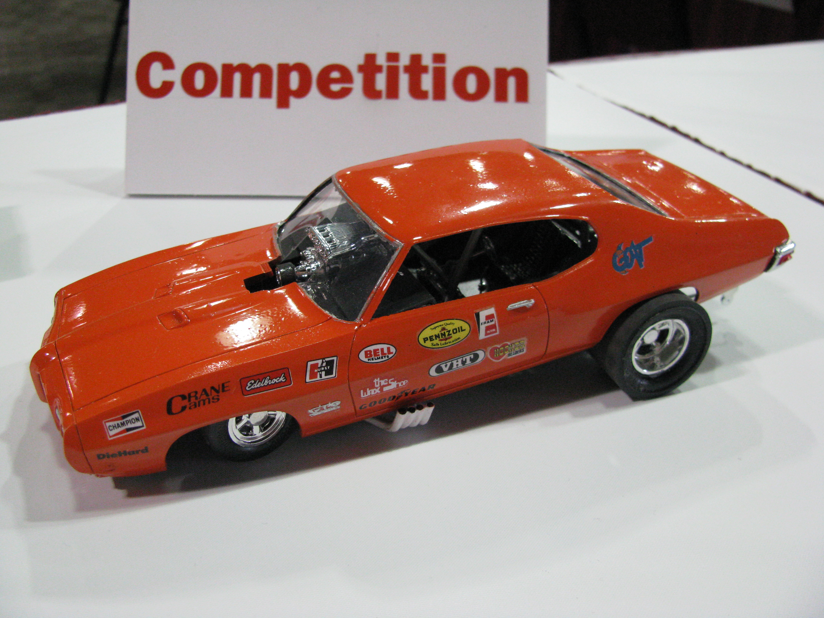 View photo of 1970 Pontiac GTO Funny Car Model - 3,558KB
