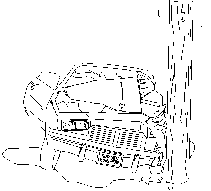 Traffic accident coloring pages for Car crash coloring pages