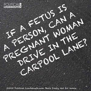 can a pregnant woman drive in the carpool lane