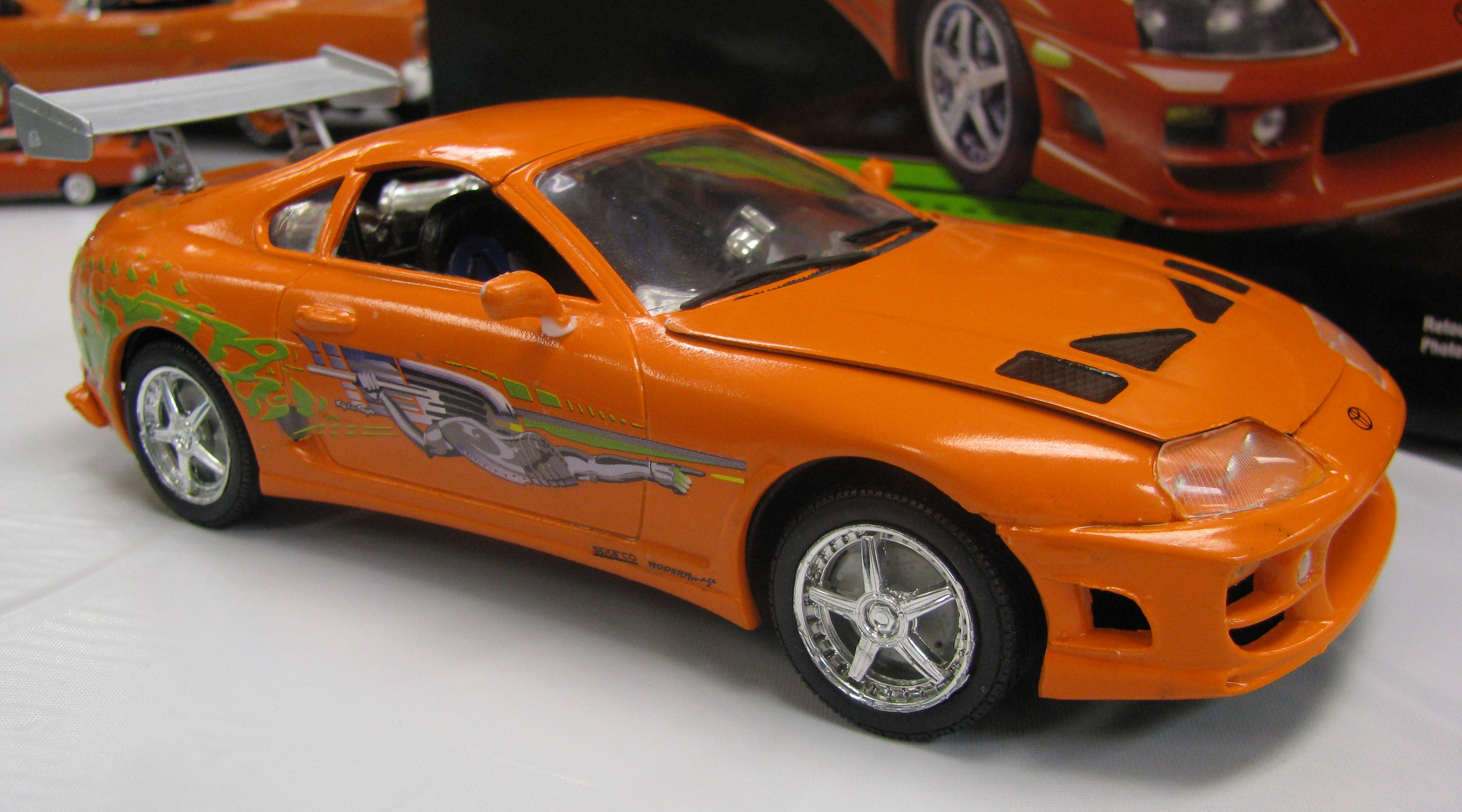 toyota supra fast and furious green. view photo of a model the 1995 toyota supra from fast and furious green